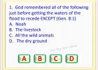 BIBLE QUIZ GAME  - GENESIS  8